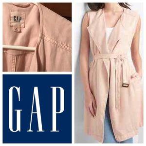 GAP light pink sleeveless trench